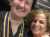 District Governor Ida Portella with President Evelyn