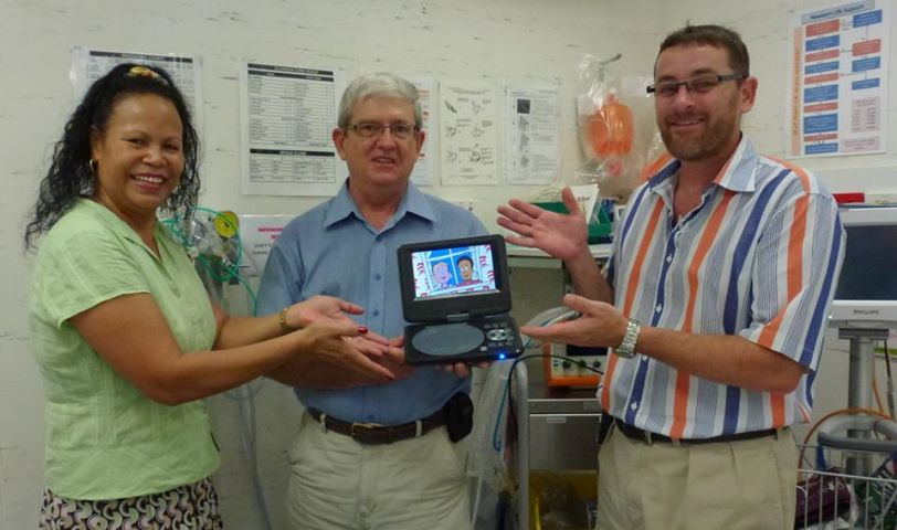 DVD player Donated to Mossman Hospital
