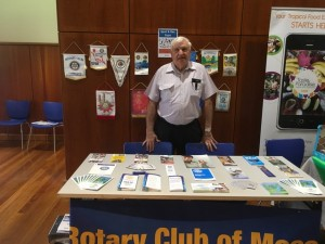 Terrey manning the Rotary stand