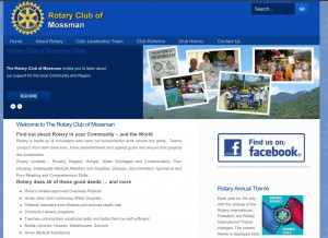 New Website Mossman Rotary Club launched